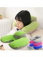 Дорожная подушка для путешествий с подголовником + чехол, зеленый цвет