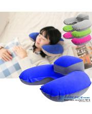 Дорожная подушка для путешествий с подголовником + чехол, синий цвет