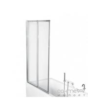Besco PMD Piramida Ambition premium -2 80,5х140, профиль хром, стекло прозрачное