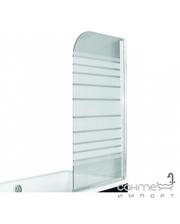 Besco PMD Piramida Ambition-1 75х130, профиль хром, стекло с полосками