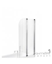 Besco PMD Piramida Ambition-2 80,5х140, профиль хром, стекло прозрачное