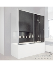 Besco PMD Piramida Шторка для ванны раздвижная Besco Duo Slide II 150x150 закаленное прозрачное стекло