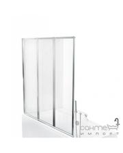 Besco PMD Piramida Ambition premium -3 130х140, профиль хром, стекло прозрачное