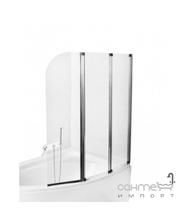 Besco PMD Piramida Ambition-3 123х140, профиль хром, стекло прозрачное