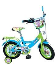 Велосипед детский 12 дюймов Profi LT 0050-01, Лунтик, зелёно-голубой