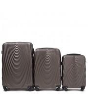 Комплект пластиковых чемоданов Wings 304-3 на 4 колесах