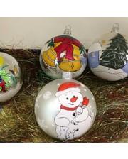 Новогодние ёлочные шары-игрушки Декупаж