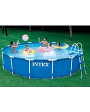 Каркасный бассейн Intex 28232 (457х91 см) + фильтр-насос (220-240V), лестница, подстилка, тент