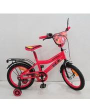 Велосипед 2-х колесный 16'' 161604, красный, со звонком, зеркалом, ручной тормоз