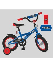 Велосипед Profi детский 14 дюймов P 1433, синий, звонок, доп. колёса