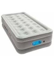 BW Велюр-кровать 67624 203-152-46 см, серый, встроенный насос 220-240V, сумка, ремкоплект, в кор