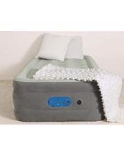 BW Велюр-кровать 67622 AlwayzAire 191-97-46 см, серый, встроенный насос 220-240V, сумка,ремкоплект, в кор-к