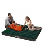 Intex - 66927 велюр, зеленая, встроенный механич. ножной насос