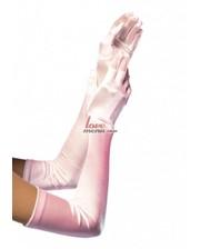 Leg Avenue Атласные перчатки, белые