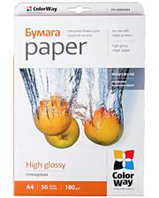 colorway Папір А4 50л глянцевий 180г/м2 PG180-50