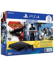 Sony PlayStation 4 Slim 500 Gb (HZD+GOW3+UC4+PSPlus 3М) (ОФІЦІЙНА ГАРАНТІЯ) Black