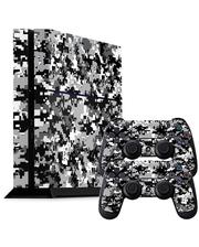 Скіни для Sony Рlaystation 4 + 2 геймпада синя Мозаїка