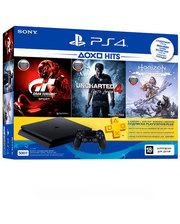 Sony PlayStation 4 Slim 500 Gb (HZD+GTS+UC4+PSPlus 3M) Black