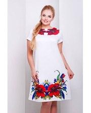 Glem Пишна краса - сукня трапеція з маками.