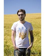 ARTY Чоловіча футболка з гербом на білому полотні.