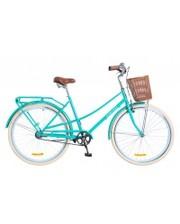 "Dorozhnik Велосипед Comfort Female 2018 28"" бирюзовый с корзиной 19.5"""