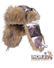 NORFIN Шапка-ушанка HUNTING White 750 / L