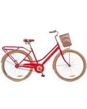 "Dorozhnik Велосипед Comfort Female 28"" 14G рама-19"" St красный с багажником"