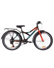 """Discovery Велосипед Flint MC 2019 24"""" черный/синий/оранжевый 14"""""""