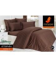 Mariposa Комплект постельного белья 160x220 De Luxe Tencel Бамбук Жаккард Ottoman Coffee v7