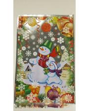"""Фольгированный пакет для конфет №2 (20x30) 100 шт. """"Снеговик на прогулке"""""""