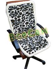 Накидка на сиденье автомобиля из овчины (2 штуки) - леопард