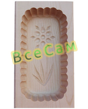 Форма для масла, деревянная 250 г.