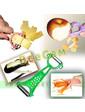 Двухсторонний нож экономка для чистки овощей 5 в 1