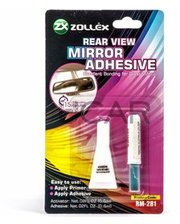 Zollex RM-281 Клей для зеркал заднего вида, 0,6 мл + 0,6 мл
