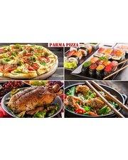 Скидка до 60% на все меню (тайская кухня, пицца, суши, штрудели, осетинские пироги, утка по-пекински, крылышки гриль в соусе и блюда на гриле) от службы доставки «parma-pizza.com.ua»!