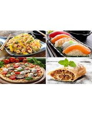 "Скидка до 60% на все меню (Тайская кухня, Пицца, Суши, Штрудели, Осетинские пироги, Утка по-пекински и блюда на Гриле) от службы доставки ""Пицца Подол"""
