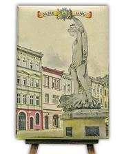 Старт-Полиграф Блокнот со стикерами Post-it, в твердой обложке «Львів-Площа Ринок»в комплекте с чехлом