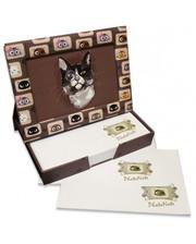 Старт-Полиграф Фоторамка - диспенсер 9х13см FrameNote, с блоком бумаги для заметок «Кот с моноклем»