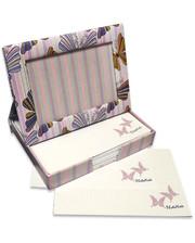 Старт-Полиграф Фоторамка - диспенсер 9х13см FrameNote, с блоком бумаги для заметок «Бабочки»