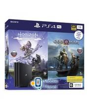 Sony PS4 1 TB Black Pro UA + God of War + Horizon Zero Dawn. Complete Edition
