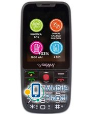 Sigma mobile Comfort 50 Elegance3 DS black (1600mAh) Госком