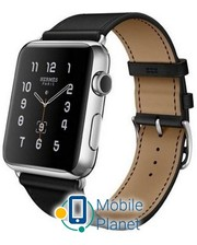 Apple Watch Hermes 38mm Stainless Steel Case with Single Tour Noir Leather Band (MLCP2)