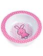 Canpol babies Глубокая тарелка из меламина на присоске с розовым зайчиком,
