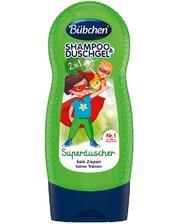 BUBCHEN Детский шампунь и гель для душа Супергерой (230 мл.),