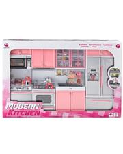 Qun Feng Toys Кухня кукольная со световыми и звуковыми эффектами, Розовая 6,