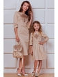 Vilenna Эффектное платье-футляр с вышивкой для мамы. Артикул: 3246