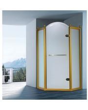 Volle GRAND TENERIFE Combi с распашной дверью,в золоте/серебре, без поддона 100х100х200см 10-22-166 G/S