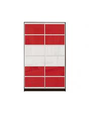 Матролюкс Шкаф купе на 2 двери + комбинарованный фасад из цветных глянцевых стекол и тонированных зеркал