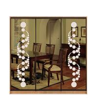 Матролюкс Шкаф купе на 3 двери + фасады из тонированных зеркал + рисунки пескоструй