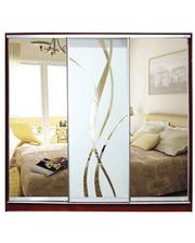 Матролюкс Шкаф купе на 3 двери + фасады из ДСП, зеркал, матовых зеркал + рисунок пескоструй на 1 двери